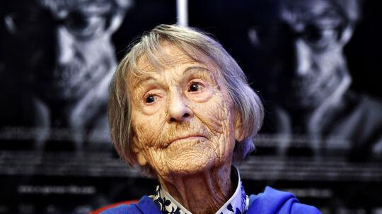 Brunhilde Pomsel , tidligere sekretær for den frygtede nazist Joseph Goebbels, ved premieren på dokumentaren 'Et tysk liv' i sommeren 2016. Hun døde for et år siden, 106 år gammel.