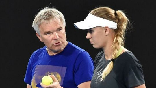 Piotr og Caroline Wozniacki.