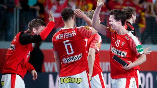 Dagens spiller Hans Lindberg under EM kampen mellem Danmark-Tyskland søndag den 21 januar 2018