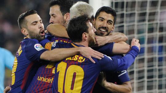 Barcelonas angrebsesser foldede hele repertoiret ud mod Real Betis, der havde danske Riza Durmisi på holdet. Scanpix/Cristina Quicler