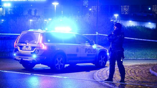 Politiet har afspærret et større område i Malmø efter eksplosionen.