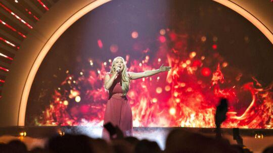 Arkivfoto fra Dansk Melodi Grand Prix 2017, hvor Anja Nissen vandt med sangen 'Where I am'.