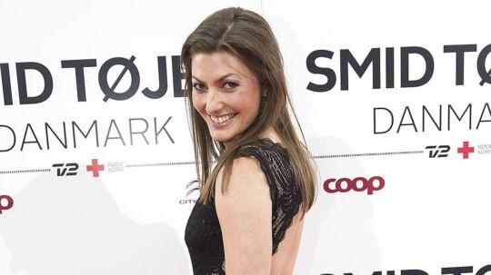 Sara Maria Franch-Mærkedahl reklamerer for TakeDaily på tv. Arkivfoto