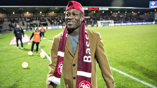 Christian Bassogog har efter sit skifte været hjemme for at få en ordentlig afsked med det nordjyske fodboldpublikum.