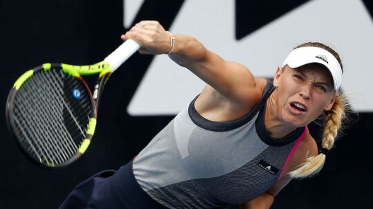 Caroline Wozniacki i aktion ved ASB Classic tidligere på året.