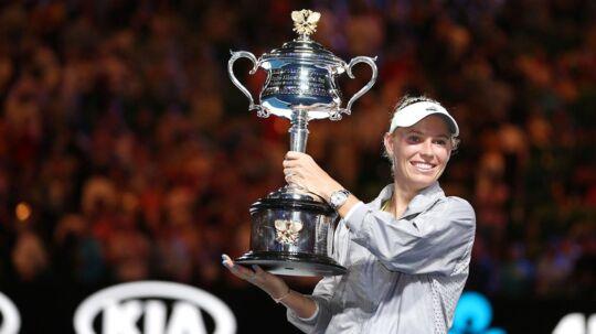 Caroline Wozniacki vandt sin største sejr i karrieren, da hun i slutningen af januar vandt Grand Slam-turneringen Australian Open.