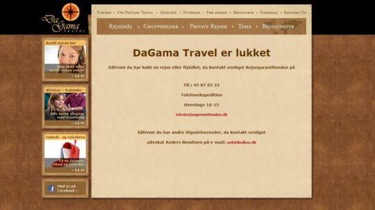 Rejseselskabet DaGama Travel er gået konkurs, og et par hundrede kunder kommer alligevel ikke ud at rejse. Heldigvis får de alle dækket deres udgifter af Rejsegarantifonden.