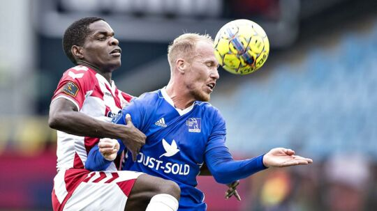 Mikkel Rygaard (th) kalder sin sidste tid i Lyngby Boldklub for kaotisk og underlig.