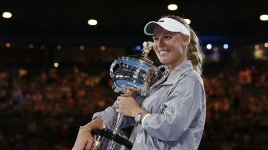 Caroline Wozniacki vandt i januar sin største titel til dato, da hun triumferede i Australian Open.