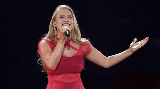 Sådan så det ud, da Anja Nissen sang sig i finalen i Eurovision sidste år med sangen 'Where I Am'.