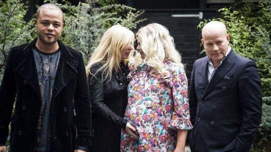 Remee, Sanne Salomonsen, Sofie Linde og Thomas Blachman under pressemøde for ny sæson af X Factor.