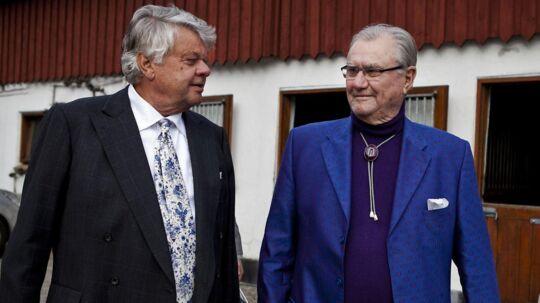 Christian Kjær og prins Henrik ved førstnævntes 70-års fødselsdag i 2013.