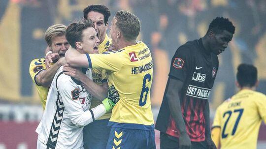 FC Midtjylland og Brøndby IF står over et forår med guldjagt på menuen. (foto: Henning Bagger / Scanpix 2017)