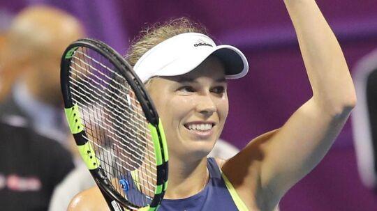 Caroline Wozniacki er klar til semifinalen.