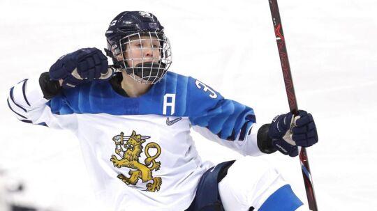 Dansk-finske Michelle Karvinen nyder i øjeblikket stor succes med det finske ishockeylandshold.
