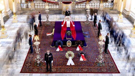 Castrum Doloris for offentligheden i Christiansborg Slotskirke søndag den 18. februar 2018.