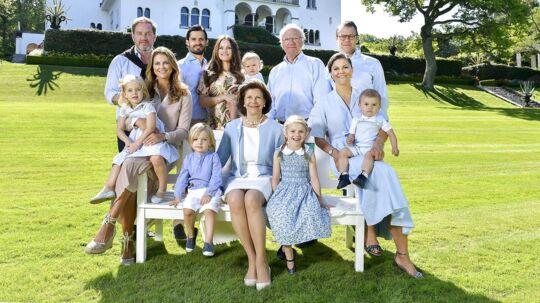 Den svenske kongefamilie.