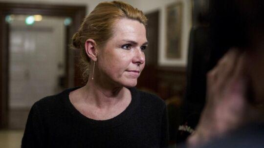 Inger Støjberg (V) ses her i forbindelse med et åbent samråd