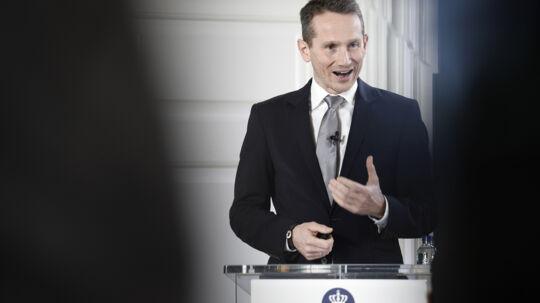 Finansminister Kristian Jensen (V) har torsdag præsenteret analyse, som viser, at ikkevestlige indvandrere og efterkommere kostede statskassen cirka 36 milliarder kroner i 2015. Scanpix/Mads Claus Rasmussen