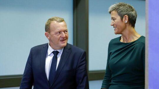 Statsminister Lars Løkke Rasmussen har ingen planer om at genudpege Margrethe Vestager som dansk EU-kommissær for endnu en femårig periode, når hendes nuværende mandat udløber i slutningen af 2019.