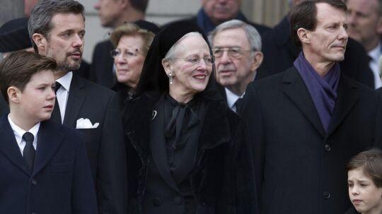Den royale familie i forbindelse med bisættelsen af prins Henrik.