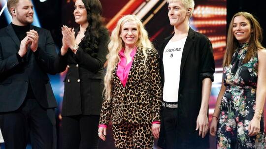 Sanne Salomonsen på scenen, X Factor liveshow i DR byen, 23. februar 2018.. (Foto: Martin Sylvest/Scanpix 2018)
