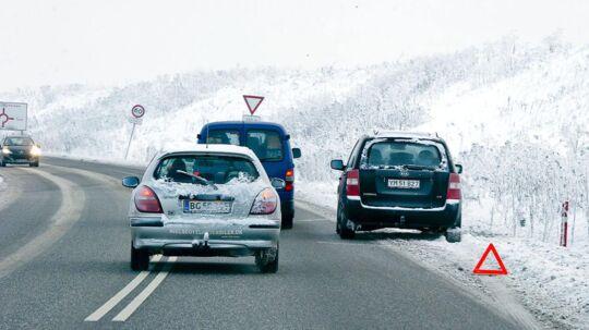 Glatte veje har søndag formiddag resulteret i flere færdelsuheld på Sydsjælland (Arkivfoto).