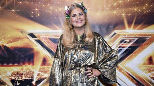 X-Factor finalen 2017, rød løber inden showet i DR-byen. Vært Sofie Linde.