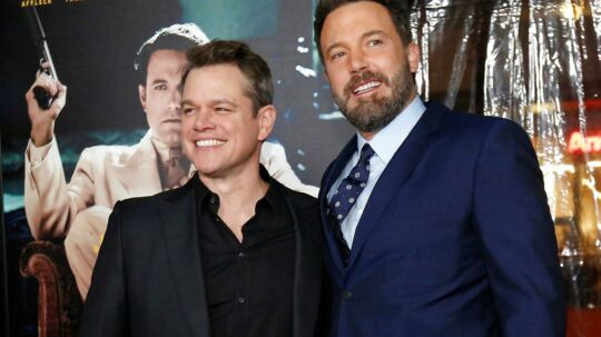 Ben Affleck og Matt Damon ved premieren på 'Live by Night' i Hollywood