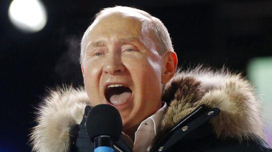 Vladimir Putin. Moskva søndag den 18. marts.