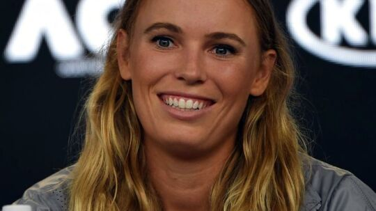 epa06478453 Caroline Wozniacki of Denmark attends a press conference after winning the women's singles final against Simona Halep of Romania at the Australian Open Grand Slam tennis tournament in Melbourne, Australia, 27 January 2018. EPA/TRACEY NEARMY AUSTRALIA AND NEW ZEALAND OUT