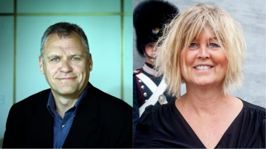 Peter Andersen, tidligere direktør i DR, og Bettina Jensen, tidligere afdelingschef i Rigspolitiet. Fotos: Agnete Schlichtkrull og Bjarne Lüthcke