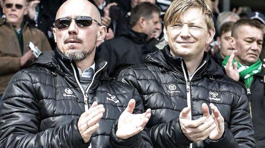 Tirsdag blev Stephan Schors, til venstre, fyret som administrerende direktør i AaB. Indtil videre bliver hans opgaver varetaget af klubbens sportsdirektør Allan Gaarde, der ses til højre.