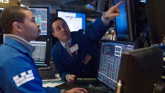 Børsen på Wall Street i New York.