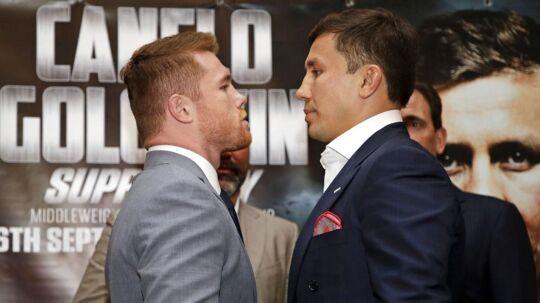"""Årets boksebrag mellem mexicanske Saul """"Canelo"""" Alvarez og kazakhstanske Gennady Golovkin er aflyst."""