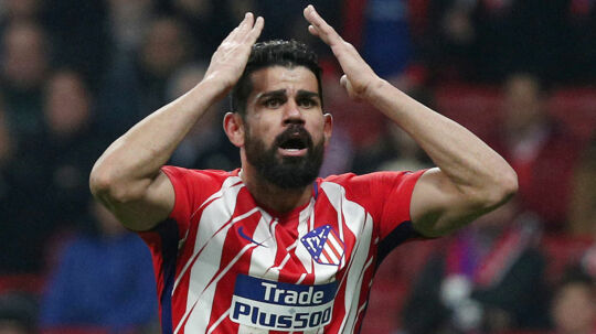 Soccer Football - Europa League Round of 16 First Leg - Atletico Madrid vs Lokomotiv Moscow - Wanda Metropolitano, Madrid, Spain - March 8, 2018 Atletico Madrid's Diego Costa reacts REUTERS/Sergio Perez