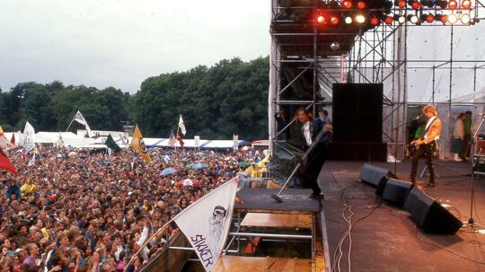 Midtfyns Festival. Ringe. Juli 1989. (Søren Lorenzen/Polfoto)