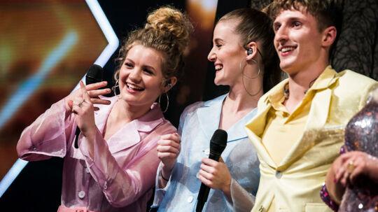 """sendxnet Place On Earth på scenen med sangen """" Electric Feel"""" af MGMT. X Factor Finale, sæson 11 liveshow 7, fredag den 6. april 2018. (foto: Martin Sylvest/Scanpix Ritzau 2018)"""