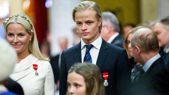 Kronprinsesse Mette-Marit med søn Marius Borg Høiby