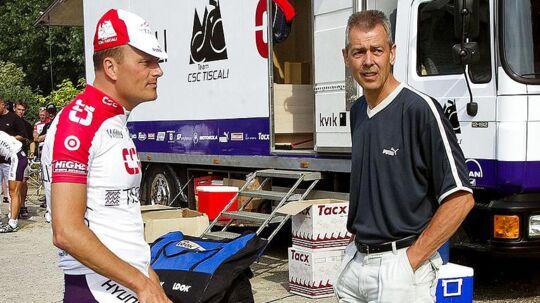 Tour de France 2001 Bjarne Riis og kropsterapeut Ole Hartung AKA Ole Kåre Føli
