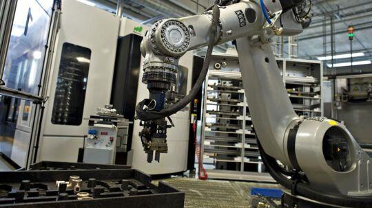 Industri robot fra Volas fabrik i Horsens.