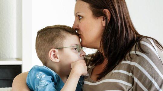 Astrid Lequime med sin søn Noah.