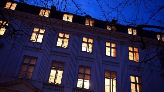 Forligsinstitutionen på Sankt Annæ Plads i København. Tirsdag aften.
