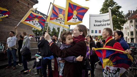 Københavns Politi forhindrede fredelige aktivister i at demonstrere frit og vise sympati for Tibet under to kinesiske statsbesøg i 2012 og 2013. ARKIVFOTO.