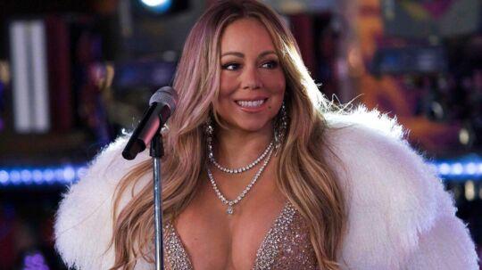 Mariah Carey optrådte Nytårsaftensdag på Times Square i New York.