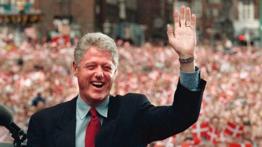 Bill Clinton er en af de få siddende amerikanske præsidenter, der har aflagt besøg i Danmark. Her i 1997.