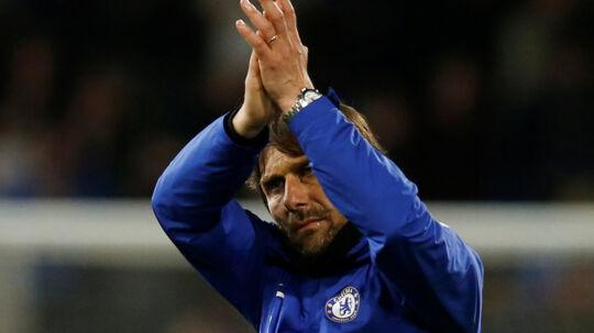 Antonio Conte kunne være tilfreds, da Chelsea torsdag aften hentede tre point med udesejr over Burnley i Premier League. Reuters/Andrew Yates