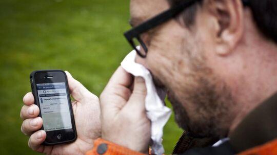 Du kan holde dig opdateret på dagens pollental med Astma-Allergi Danmarks Pollen-app.