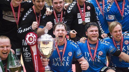Sådan så det ud for to år siden, da HC Midtjylland vandt pokalturneringen. Nu er klubben gået konkurs.