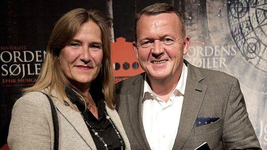 Lars Løkke Rasmussen med sin kone, Solrun Løkke Rasmussen.